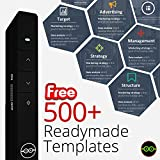#3: Techlicious Wireless Presenter with Laser Pointer Powerpoint Presentation Projector Remote Clicker PPT Slideshow Control Pen For Mac Windows Laptop PC