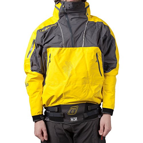 levelsix Superior Lange Ärmel Jacke mit Kapuze Paddeln Equipment XL bright yellow/Charcoal