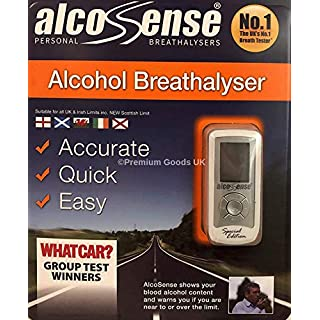 AlcoSense Breathalyser Special Edition - Portable Digital Blood Alcohol Level Testing Device Drive Safe