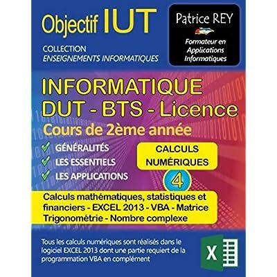 DUT Informatique : Tome 4, Calculs numériques avec excel 2013 et vba