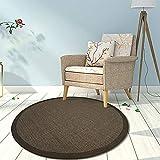 Clothes UK- Postmodern Licht Luxus Wohnzimmer Couchtisch Runde Teppich Retro Design Weaving Sisal Slip Teppich geben Rutschfeste Matte Teppich (Farbe : B, größe : 200cm)