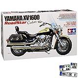 Yamaha XV1600 Roadster Custom 14135 Kit Bausatz 1/12 Tamiyia Modell Motorrad mit individiuellem Wunschkennzeichen