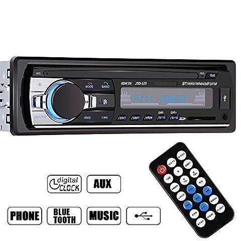 Jolliwin Haute qualité Voiture Bluetooth Stéréo de Radio Lecteur Autoradio