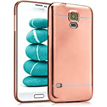 Caso suave para Samsung Galaxy S5 / S5 Neo | Funda de silicona con efecto metálico mate | Protección de celda fina bolsa de OneFlow | Backcover en Rose-Gold