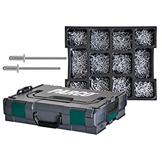 PARCO® CLICK Sortimentskoffer Blindnieten Flachrundkopf Alu/Stahl - 2.900 Teile 485P580