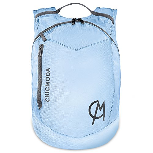 chicmoda-backpack-waterproof-rucksack-lightweight-packable-daypack-light-blue