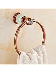 Anillo de toalla Anillo de toalla de cobre Anillo colgante de toalla Anillo colgante de toalla de estilo europeo ( Color : C )