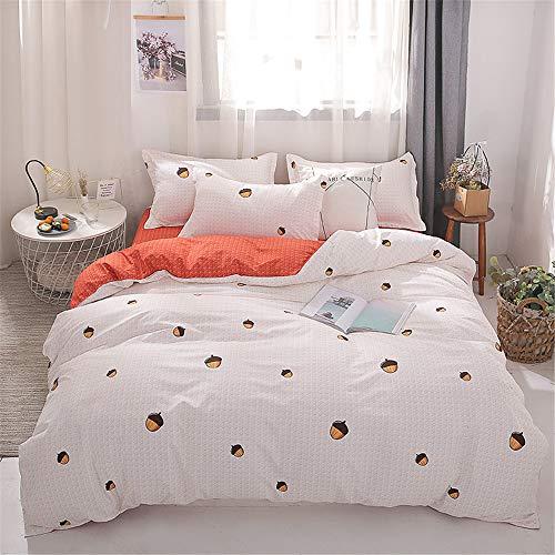 Braune Mikrofaser-kissen (YUNSW Heimtextilien Bettbezug Baumwolle Bettwäsche Set Twin Voll Königin King Size Leinen Bettbezug B 220x240cm)