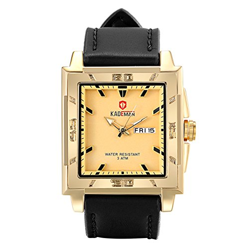 n Leder Armbanduhr Analog mit Leder Armband ()