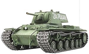 Tamiya 300056028 - KV1 Tanque Ruso, con Motor eléctrico (1:16)