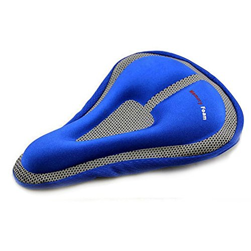 Lmeno Radfahren Fahrrad 3D Silikon Sattel Seat weiche Sitzpolster Kissen Auflage Gel Abdeckung Atmungs For Mountain Bikes (Schwarz/Rot/Blau/Gelb) (Komfort-gel-nasen-kissen)