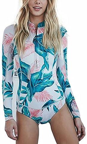 I VVEEL Femme Imprimé à glissière avant / arrière une pièce maillot de bain monokini
