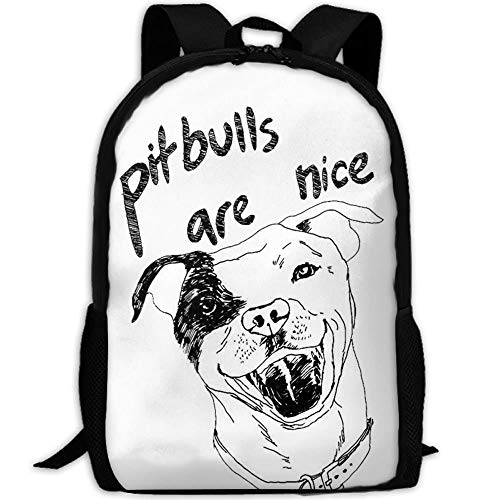 HOJJP Schultasche Most Durable Lightweight Funny Canvas College Student Bag Bookbag Pitbulls Are Nice - Dakine-kühler