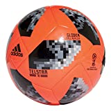 adidas Official World Cup 2018 Telstar Football, Glider, Red, Size 5