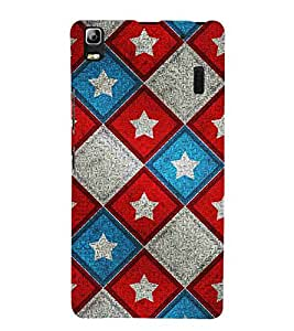 For Lenovo A7000 :: Lenovo A7000 Plus :: Lenovo K3 Note chess, star, star pattern, row pattern Designer Printed High Quality Smooth Matte Protective Mobile Case Back Pouch Cover by APEX