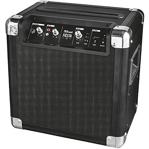 Trust Urban Fiesta Go - Altavoz/amplificador inalámbrico con Bluetooth y micrófono, 40W RMS,