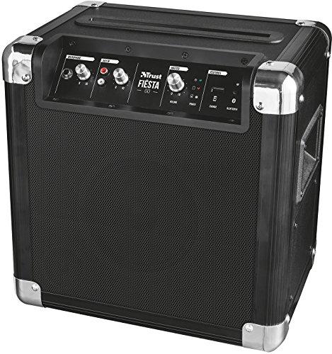 Trust Urban Fiesta Go - Altavoz/amplificador inalámbrico con Bluetooth y micrófono, 40W RMS, negro