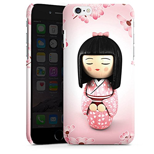 Apple iPhone 5 Housse étui coque protection Sakura Kokeshi Poupée Asie Cas Premium brillant