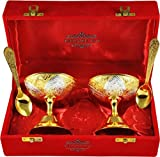 IndianCraftVilla presents Dessert Bowls which are used in your kitchen regularly. This product looks elegant as it is made of Metal and is Gold in color. This product has brushed finish type and has a royal touch. It is made in India.