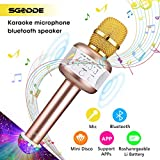 SGODDE Microfono Karaoke Bluetooth con Altoparlante Microfono Wireless Karaoke Bambini batteria AUX Portatile 4.1 wireless Karaoke per PC, laptop, iPhone, iPad, smartphone Android