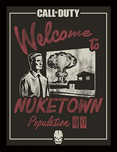 Call of Duty Bild, gerahmt, 30 x 40 cm, Nuketown