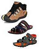 #10: Tempo Men's Combo Pack of 2 Footwear (Outdoor Shoes, Slippers & Floaters Sandals)