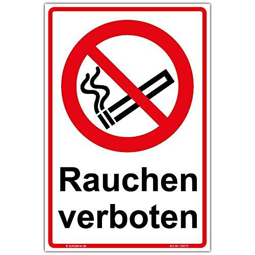 """Schild\""""Rauchen verboten\"""" Hinweisschild 300x200 mm Hochformat, stabile Aluminiumverbundplatte 3mm stark"""