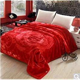BDUK Doppelseitige Raschel dicke Decke Brutto Hochzeit im Winter warme Decke ,D1,200*240cm Reset 10 Catty