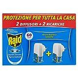 Raid Liquido Elettrico - Insetticida Antizanzare - Formato Risparmio - 2 Diffusori + 2 Ricariche Incluse - 2x21 ml