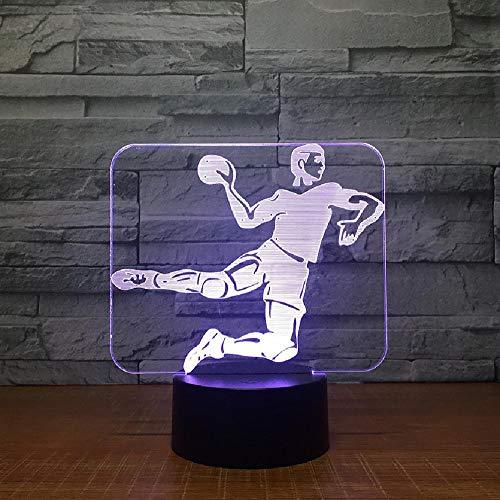 Handball 3D Led Lampe 7 Farbe Nachtlampen Für Kinder Touch Usb Tisch Baby Schlafen Nachtlicht Raumlampe