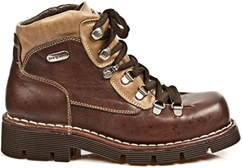 New Rock Boots M.1344 C6 Punk Hardrock Gothic Herren Stiefelette BraunNew Rock Boots M 1344 C6 Stiefelette