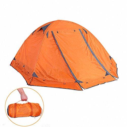 sanniya 2 Person Kombinationszelt Doppelschicht Abnehmbar mit Tragetasche Winddicht Wasserdicht 3-4 Saison Camping Zelte Einfache Einrichtung für Camping Wandern -