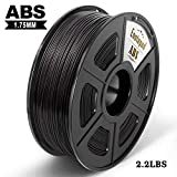 Enotepad Black ABS 3D Printer Filament, Dimensional Accuracy +/- 0.02 mm, 1kg/Spool,1.75 mm,Yollow,Eco-friendly Filament Suitable for 3D Printer/3D Print Pen (Black)