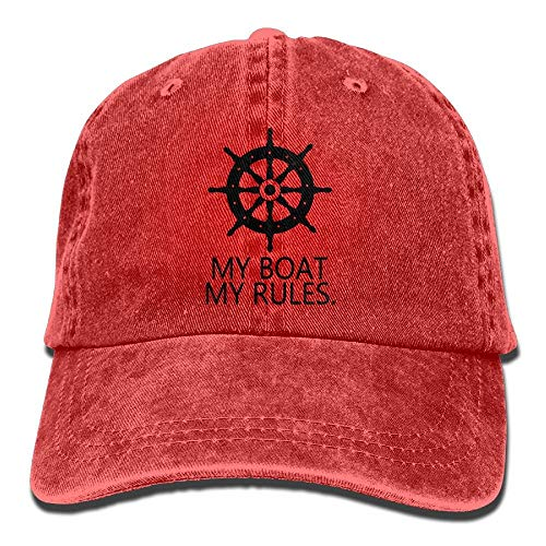 Ingpopol My Boat My Rules Retro Washed Dyed Cotton Adjustable Baseball Cowboy Cap