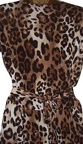 holidaysuitcase Damen Kleid Leopardenmuster