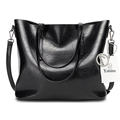 Yoome Top Handle Tote Elegant Taschen Für Frauen Damen Geldbörse Geldbörse Make-up Beutel Tasche Beiläufige Taschen - Rot Schwarz