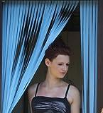 Wohnwagen-Türvorhang, Fliegengitter, Insektenschutz, Streifenvorhang -Pulver Blau- 62cm breit