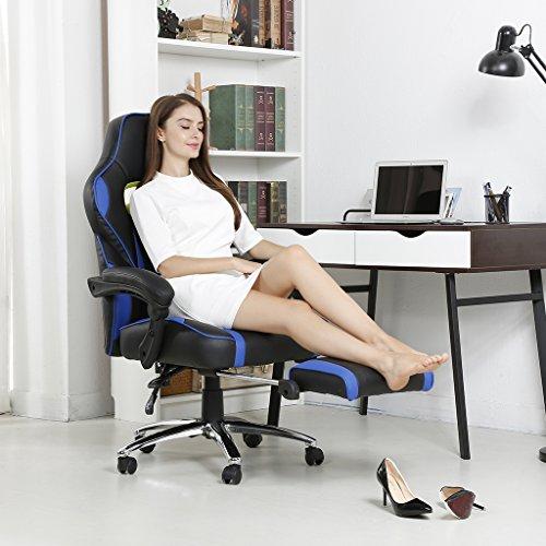 Langria silla racing de escritorio para gamers de - Silla estudio amazon ...
