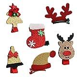 6PCS Barrettes Fille,Vococal® Pinces à Cheveux Cute Noël Santa Clips Epingle à Cheveux Bobby Pin Noël Décoration de Cheveux