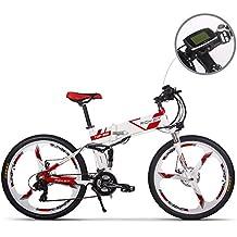 Bicicleta de montaña plegable y eléctrica para hombre TB RT860. Batería de ion de litio 12,8 Ah de 7 niveles de velocidad. Velocímetro PAS de alta función ...