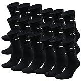 PUMA Unisexe Crew Chaussettes Chaussettes De Sport AVEC SEMELLE BOUCLETTE 18 Lot - - noir, 47-49