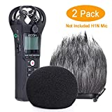 YOUSHARES Foam & Furry Indoor-Outdoor Windbildschirm Muff, Pop Filter/Wind Cover Shield für Zoom ZH1 H1 Handy Portable Digital Recorder