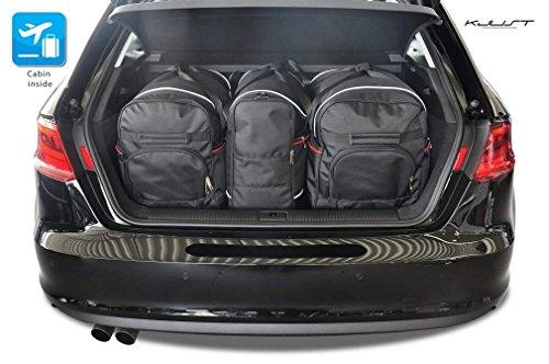 Preisvergleich Produktbild MAßGESCHNEIDERTE REISETASCHEN KJUST Audi A3 8V 2012+ 3STK CARBAGS ROLLENTASCHEN