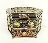 Best Aroma Incense Burners - Hexagonal Copper Metal Trinket Incense Box Decorative Arabian Review
