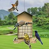 MD jardín comedero colgante para pájaros de metal plating con decorativa jaula diseño de aspecto y multiusos