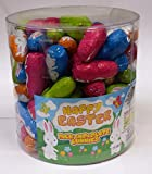 Large Milk Chocolate Hollow Foil Easter Bunny Rabbits x 100 - Full 1.25kg Tub, Easter Hunts Schools & Events