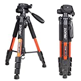 Zomei Q111 Orange Professional Aluminium Camera Tripod Camcorder Stand with Pan Head Plate