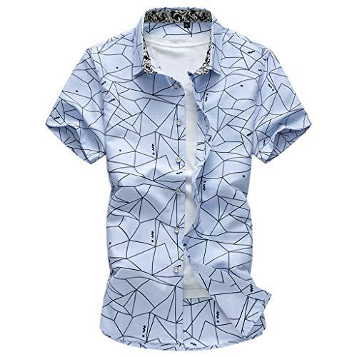 sunnymi  Herren T-Shirt, Sommermode Hemden Kurzarm Strand Tops Lose Bluse -