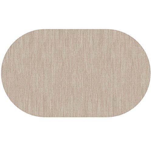 DecoHomeTextil Wachstuch Robuste Leinen Prägung Rund Oval Größe & Farbe Wählbar Oval 130 x 220...