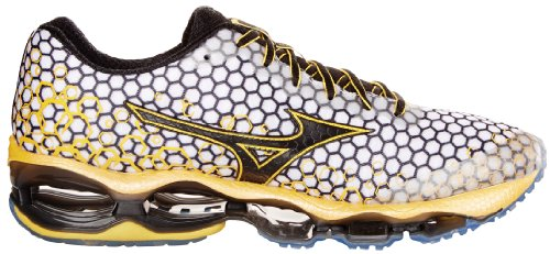 Mizuno Wave Prophecy 3 Herren Laufschuhe Trainer UK Größen White/Yellow/Black
